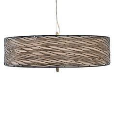 Flow 5 Light Drum Shade Pendant Light- Varaluz $575  24x 9h  Is this big enough