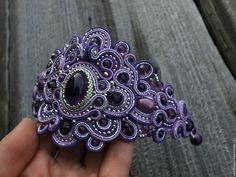 """Купить """"Чернигов"""" - фиолетовый, Браслет ручной работы, браслет, сутажный браслет, сутажная техника"""