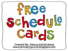 Free Schedule Cards for the Classroom!