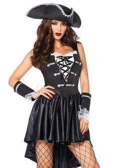 Rule the Seven Seas with this Captain Black Heart costume! This costume includes the pirate dress, matching cuffs, and hat! Sexy Pirate Costume, Costumes Sexy Halloween, Pirate Dress, Costume Sexy, Costume Dress, Adult Costumes, Costumes For Women, Adult Halloween, Pirate Costumes