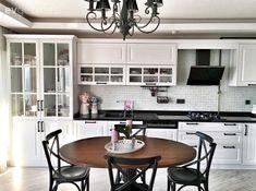 Aydınlatma, Beyaz mutfak, Mutfak, Siyah, Mutfak masası