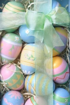 Pastel collection of Easter eggs ..