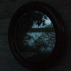 L'Arno riflesso in una finestra rotonda- notte di Beltane 2015