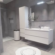 Home Room Design, Home Interior Design, Bathroom Vanity Units, Contemporary Bathrooms, Bathroom Modern, Luxury Shower, Bathroom Design Luxury, Bathroom Organisation, Shower Remodel