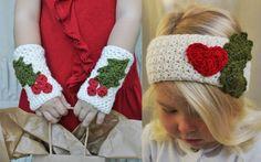 2 Crochet Pattern Set The Noel Warmers by NaturallyNoraCrochet, $7.00