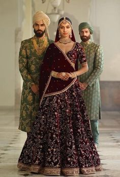 This dark burgandy colour wedding lehenga set is inspired by Sabyasachi Collection. Lehenga set is in velvet silk fabric with zardozi, marodi and arri hand embroidery. This lehenga set comes with one velvet shawl and one net dupatta as shown in the photo. Designer Bridal Lehenga, Bridal Lehenga Online, Lehenga Choli Online, Sabyasachi Lehenga Bridal, Indian Bridal Lehenga, Bollywood Saree, Sherwani, Bridal Outfits, Bridal Dresses