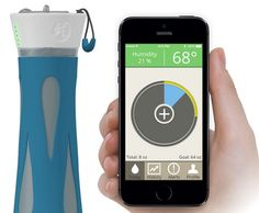 very cool! Smart water bottle alerts you when it's time to hydrate via @CNET