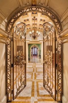 Extravagant Gilded Age Mansion Reduced to $98-Million | 12 East 69th Street, New York, New York | A 40 foot wide mansion on the Upper East Side of New York . 19-room palace was originally built in 1884 but was gutted & redone by the current owners | 7 bedrooms & 9 bathrooms on six stories. Over 20,000 square feet of living space, a 2,000 square foot deck, panic room, multiple fireplaces, an elevator, home theatre with 12′ screen & balcony, and an indoor 23′ x 12′ swimming pool.