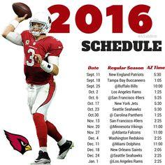 ea59ed1c4 Arizona Cardinals 2016 Season schedule with Tyrann Mathieu