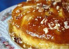 Flan de manzanas y nueces, Receta de Cocina - Postres - RecetasNet