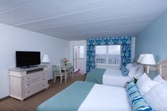Beach elegance are the words that come to mind for the rooms at the Dunes Manor in Ocean City, MD. #ocmd