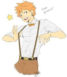 hubedihubbe:  Suspendy Hinata from yesterdays stream! First Haikyuu!! character I've drawn ayy