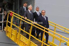 Saint-Nazaire : François Hollande visite les chantiers navals STX - Politique - via Citizenside France. Copyright : Christophe BONNET - Agence73Bis