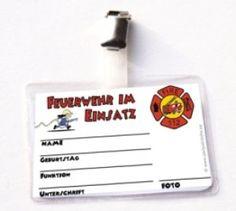 Dienstausweis Feuerwehr