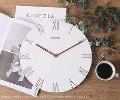minimal clock/modern clock/wooden minimal decor clock/wood Scandinavian clock/wall art color white wood/Round Clock/Living Room Decor clock by BeautyOfPrints on Etsy