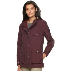 Womens Woolrich Mountain Hooded Anorak Rain Parka ($159) ❤ liked on Polyvore featuring outerwear, coats, drk purple, anorak jacket, hooded anorak jacket, anorak coat, woolrich parka and flannel coat