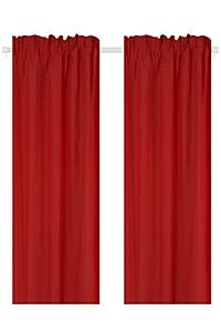POLYCOTTON 150X218CM CURTAIN 2 PACK