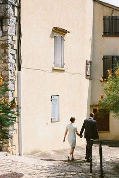 Provence church ceremony destination look fashion style bride groom wedding | Amber + Alexis | South of France Destination Wedding | Jenn Emerling