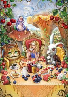 Картинки по запросу безумное чаепитие арт