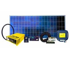 Portable Solar Power System - With the power of the sun, you can run a microwave, TV, blender, computers and more with this complete system. No noisy generator, just completely silent green power. The future is bright!