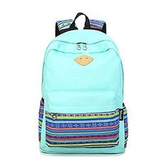 EastFly Women Canvas Tribal Stripes Travel Daypack Campus Backpack School Bag * Details can be found by clicking on the image.