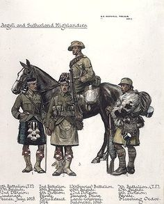 Miller, A E Haswell (MC), Argyll and Sutherland Highlanders...
