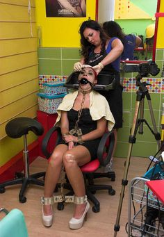 Transvestite sissy hair salons for perms