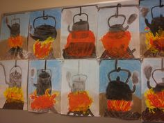 Nokipannukahvit hiilityönä. Primary School Art, Elementary Art, Art School, Projects For Kids, Art Projects, Crafts For Kids, Arts And Crafts, Creative Kids, Summer Kids