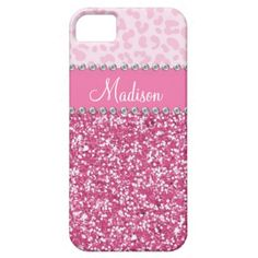 Pink glitter rhinestone bling iPhone 5 case for girls