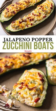 We are here to deliver the goods. The goods are in this case our low-carb version of jalapeño poppers zucchini boats are baked and so much healthier! Veggie Dishes, Vegetable Recipes, Food Dishes, Veggie Food, Food Food, Diet Recipes, Vegetarian Recipes, Cooking Recipes, Bacon Recipes
