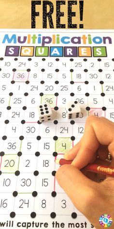 """Mathified"" The Squares Game! This FREE multiplication facts game makes kids want to practice their facts!This FREE multiplication facts game makes kids want to practice their facts! Multiplication Facts Games, Math Facts, Multiplication Squares, Math Fractions, Multiplication For Kids, Kids Facts, Fourth Grade Math, 4th Grade Math Games, Year 4 Maths"