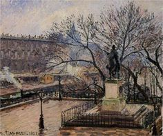 The Raised Tarrace of the Pont Neuf and Statue of Henri IV - Camille Pissarro
