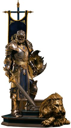 World of Warcraft King Llane Statue by Damtoys incredible to view or purchase it from sideshowcollectibles just click image World Of Warcraft, Warcraft Movie, Character Art, Character Design, Legendary Pictures, Concept Art Tutorial, Arte Robot, Armadura Medieval, Dragon Knight