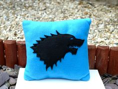 Fleece Game of Thrones Geek Pillow by SewBamboo on Etsy, £8.00