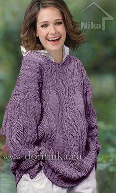 Узорчатый свитер, связанный спицами. Обсуждение на LiveInternet - Российский Сервис Онлайн-Дневников