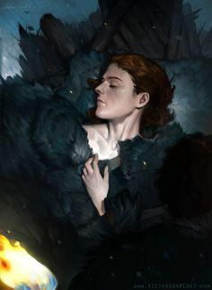 """To Ygritte, Kissed By Fire.""   GOT Season 4 Digital Painting by VictorAdameArt"