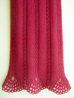 Tiare Scarf pattern by Wendy Neal