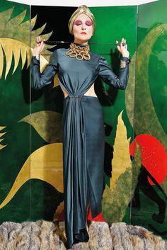 Paper Magazine   THE WONDERFUL WORLD OF CATHERINE BABA   photography by Stephane Feugere / styling by Catherine Baba   Jason Wu dress, Chanel vintage necklace.