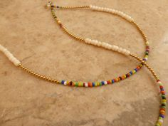 Afrocentric Waist beads White Bone Brass and by NatiiveWaistbeads