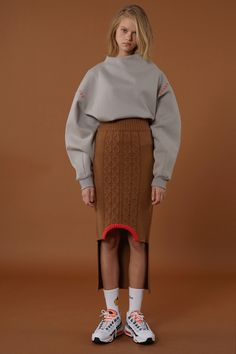 Winter knitwear from minimal cool Korean fashion label ADER Error from oversize turtleneck sweaters with long sleeves to super rad sweater dresses. Knit Fashion, Fashion Art, Womens Fashion, Fashion Tips, Fashion Design, Fashion Details, Fashion Ideas, Korean Fashion Trends, Korean Outfits
