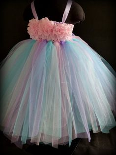 This stunning tutu dress is a lovely combination of pastel colours. Ideal as a flower girls tutu or a special occasion dress for any litt… Princess Tutu Dresses, Baby Tutu Dresses, Tutu Outfits, Pageant Dresses, Party Dresses, Little Girl Tutu, Flower Girl Tutu, Flower Girl Dresses, Flower Girls