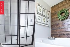 Before & After: Builder Basic to Rustic Bath for Under $400 — Hometalk | Apartment Therapy