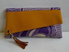 Handmade Clutch purse , African print Bag, Womens Clutch