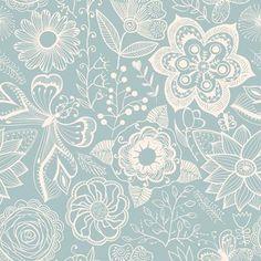 Papel de Parede Autocolante -  Floral 350