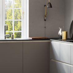 Products - A - Tinta Kitchen - Grey - - Meg Gray Interior, Kitchen Interior, Interior Design, Grey Kitchens, Cool Kitchens, Kitchen Dining, Kitchen Cabinets, Kitchen Grey, Interior Inspiration