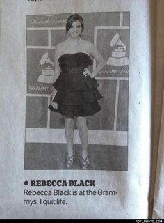 Rebecca Black At The Grammys