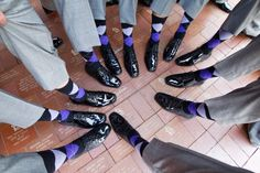 Matching argyle socks for the groomsmen