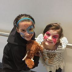 Face painting dress up sisters!