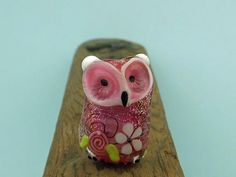 Simone.... lampwork owl bead... sra by DeniseAnnette on Etsy, $20.00