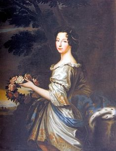 Anne Marie of Orleans, Princess of France, later the Duchess of Savoy and Queen of Sardinia; possibly by Louis Ferdinand Elle, c. 1684. Her father was Philippe I, Duke of Orleans. She was married to Victor Amadeus II, Duke of Savoy, King of Sardinia, King of Sicily.